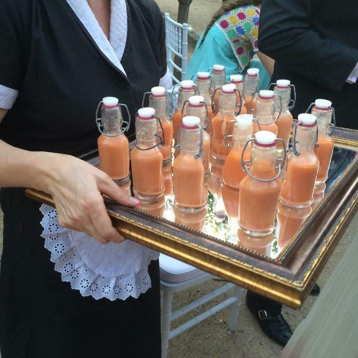 gazpacho en botella Beltran Catering