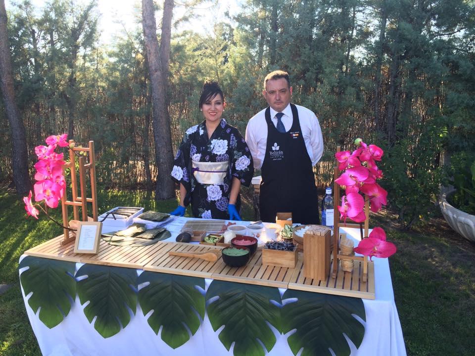 Cocina Japonesa en directo Eventos Beltran Catering