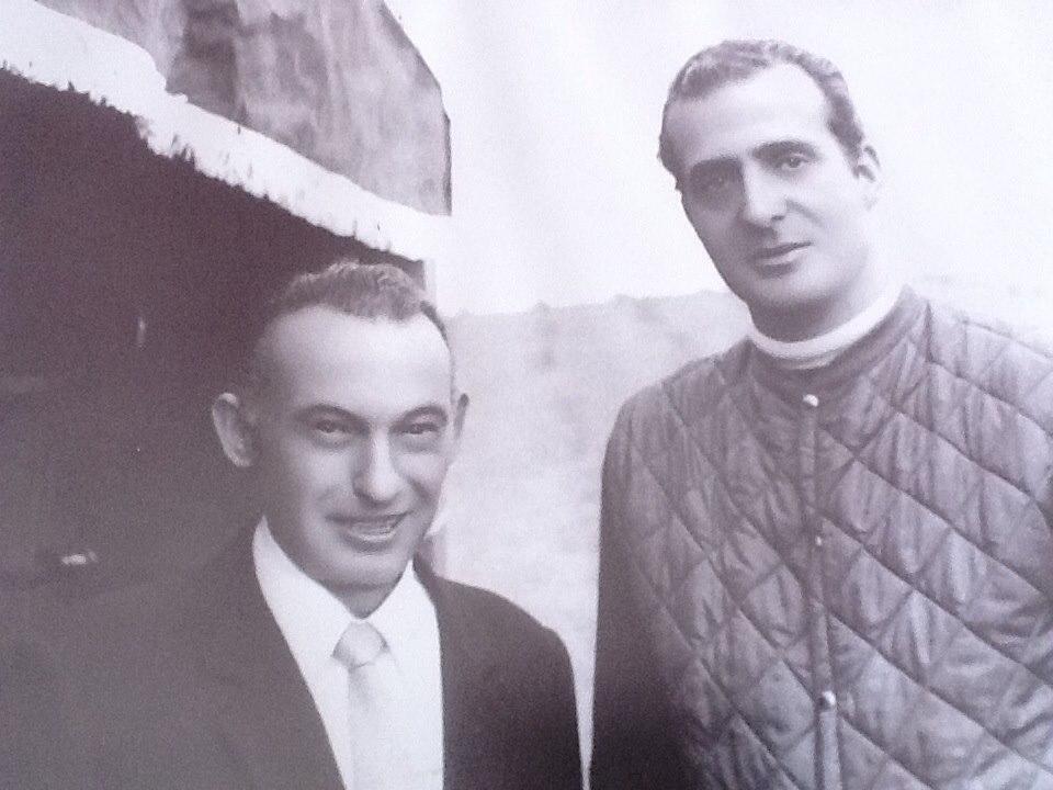 Beltran Catering desde 1924 Emilio Beltrán con el Rey Juan Carlos