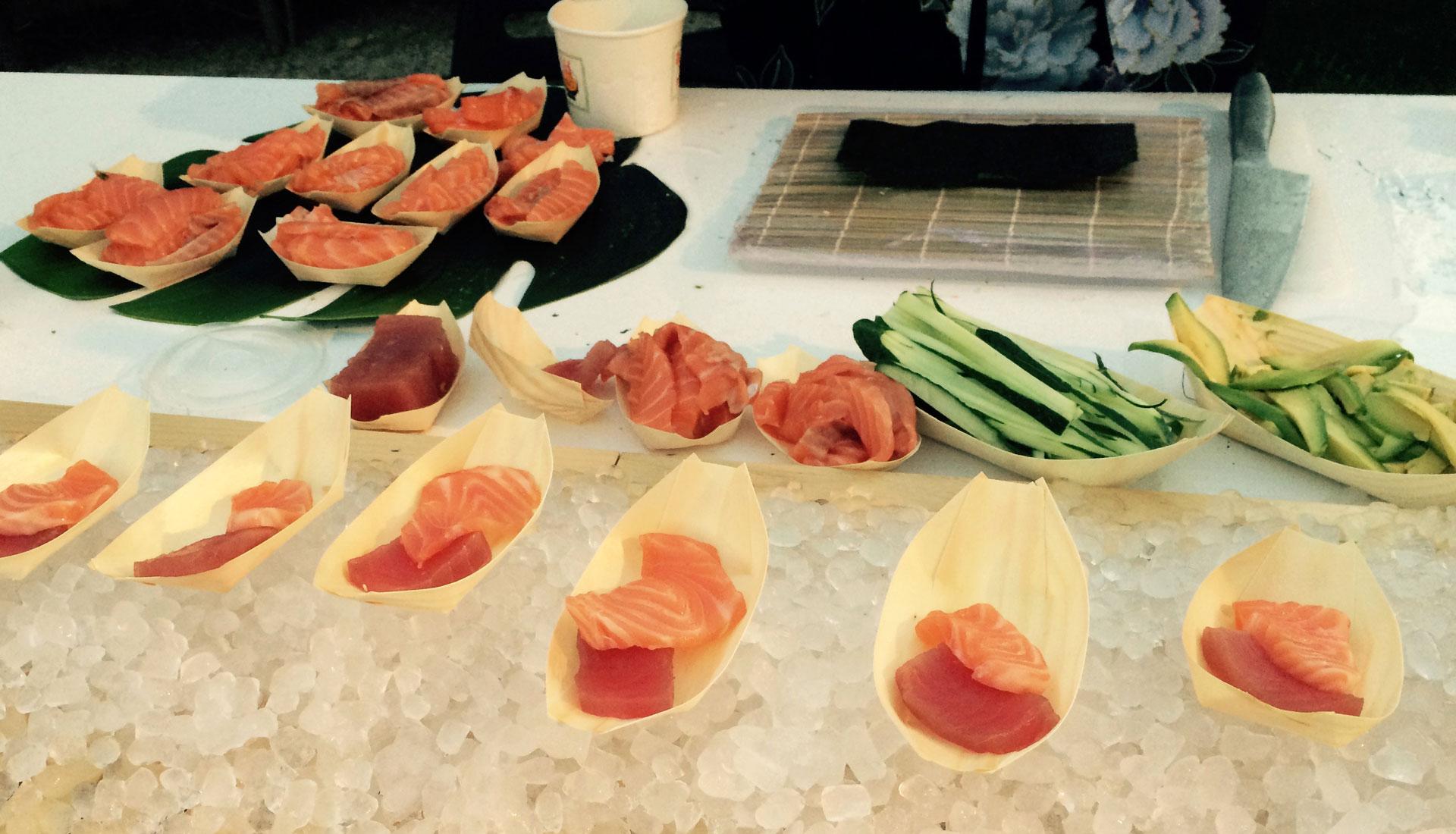 Isla Temática cocina Japonesa Beltran Catering