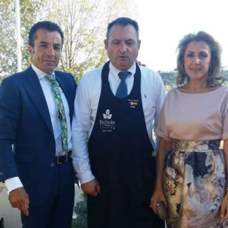 El fundi Torero con Alfonso Beltran Catering