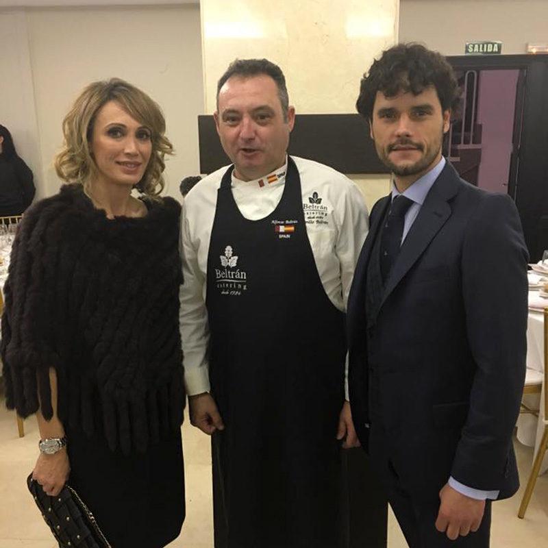 Cristina Sanchez y Miguel Avellan con Alfonso Beltran