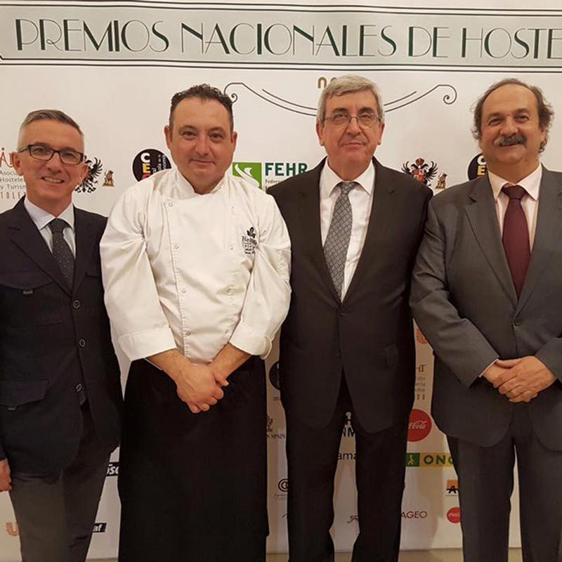 Premios nacionales de Hostelería Alfonso beltran catering